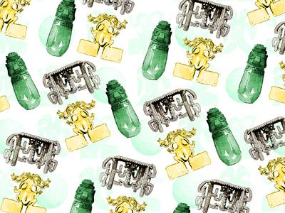 Pre-Columbian Pattern stone jade gold costa rica pre-columbian illustration pattern