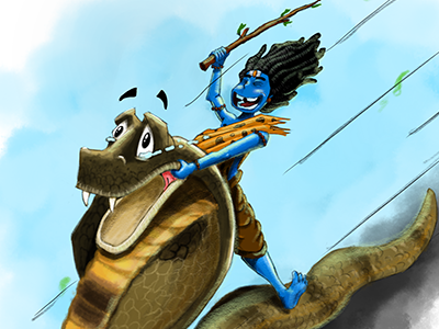 Fun shiva fun character illustration art digital