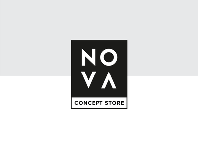 Nova black illustrator design logo