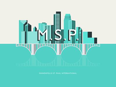 Minneapolis St. Paul illustration cityscape skyline city minneapolis