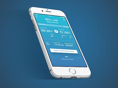 Flight Info gradient visual design ui mobile screen itinerary flight