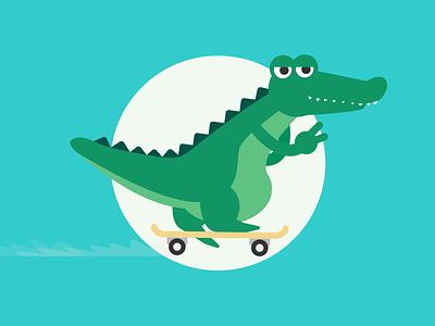 Later Gators! skater reptile croc crocodile skateboard gator alligator