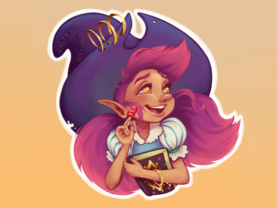 Little Witch painting illustration digital painting digital illustration