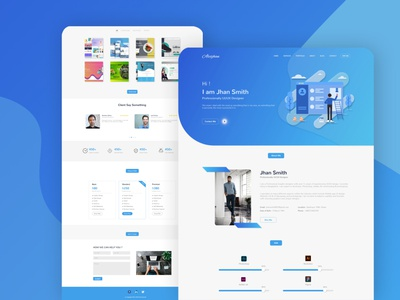 Portfolio Landing Page portfolio landing page concept landing page ui uidesign web design landing page design landing page