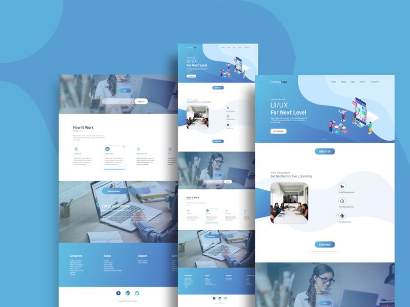 Creative Landing Page modern design creative design uxdesign ui design uiux landing page webdesign layout dashboard landing page design