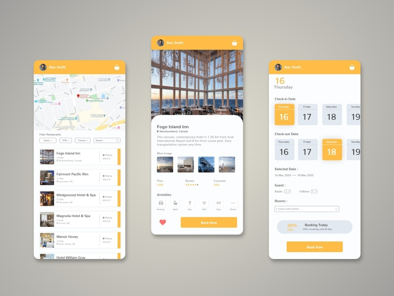 Hotel Booking App mobile app mobile app design application clean ui userinterface user experience interface minimal apple ios app design uiux ui mobile app