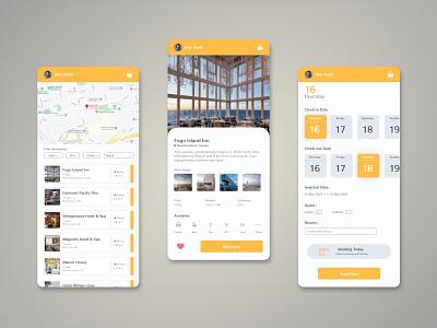 Hotel Booking App mobile app mobile app design application clean ui userinterface user experience interface minimal apple ios app design uiux ui mobile app