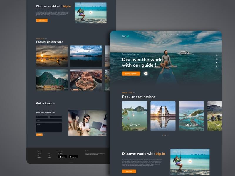 Travel Landing Page traveling travel travel agency landingpage creative design application app design uidesign uiux landing page design