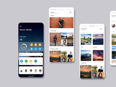OxygenOS 11 Redesign ui  ux app ui ux creative design user experience app design uiux ocean ios operating system application