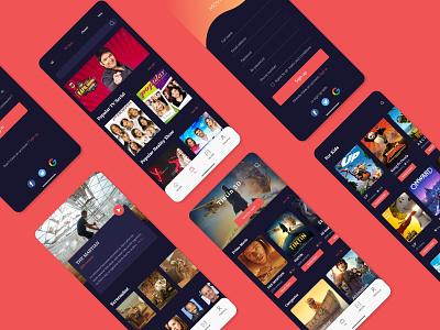 Movie App creative design uidesign illustration animation ux user interface ui dark app app idea modern app creative app user experience userinterface application app