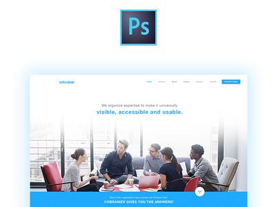 [PSD Freebie] Landing Page