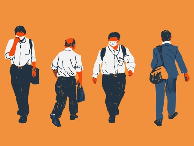 Businessmen illustration businessman editorial illustration