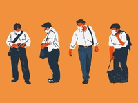 Businessmen illustration japan covid19 businessman editorial illustration