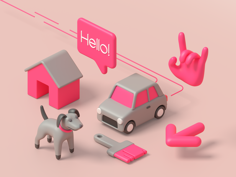 3D icons start set design app website web ux ui minimal illustration icon 3dillustration