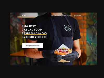 Landing page for premium street food restaurant concept landing food ux design web ui
