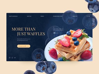 Waffle-restaurant concept sweet waffles food concept web ux ui design