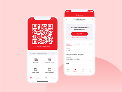"A quick redesign concept of the ""nova poshta"" mail application. mobile ecommerce minimal mail mobile app concept ux ui design"