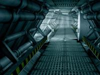 3D Alien corridor.
