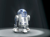 3D vídeo animation with R2D2