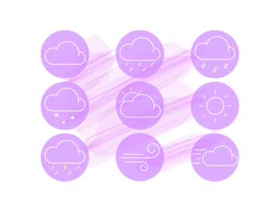 Weather icons weather icons minimal design icon vector illustration