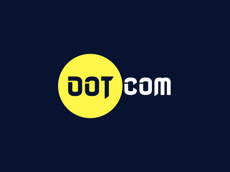 Dot Com Logo Design illustrator illustraion branding design branding minimalist logo modern logo graphic design logo design logo
