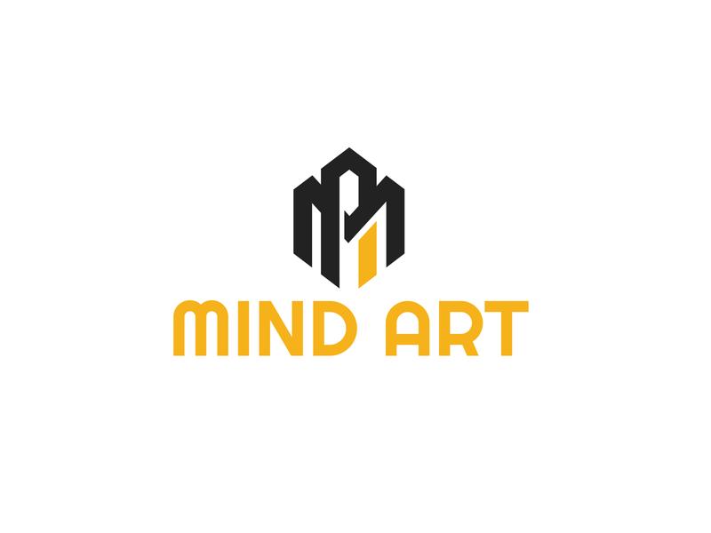MIND ART LOGO DESIGN minimalist logo graphicdesign modern logo design graphic design branding design logo design modern logo logo
