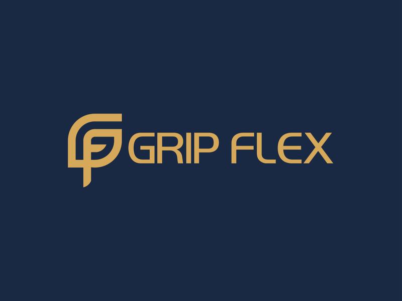 Grip Flex Logo Design graphicdesign minimalist logo modern logo design illustrator graphic design design branding logo design modern logo logo