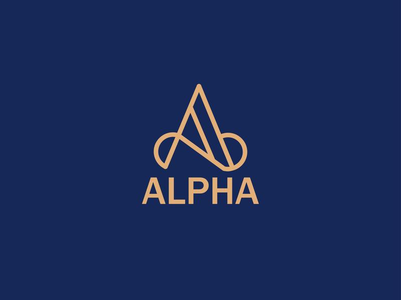 Alfa Logo Design branding design minimalist logo modern logo design illustrator graphicdesign graphic design design logo design modern logo logo