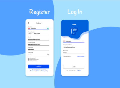 Register thyratiara ux ui design
