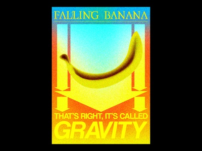 Gravity gravity print design typographic illustration gradients blankposter typography poster