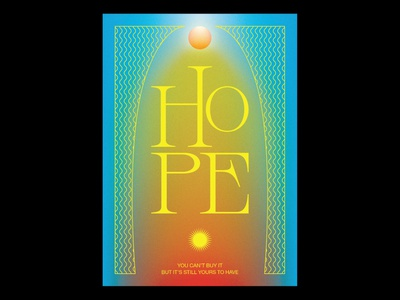 Hope posterjam hope design typographic illustration gradients typography poster