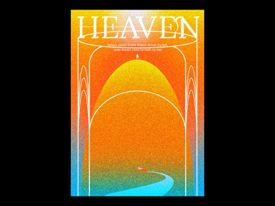 Heaven texture blankposter print typography typographic poster illustration gradients design