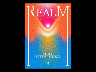 The Realm of the Forever Living blankposter texture print typography typographic poster illustration gradients design