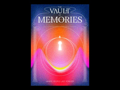 The Vault of Memories texture blankposter print typography typographic poster illustration gradients design