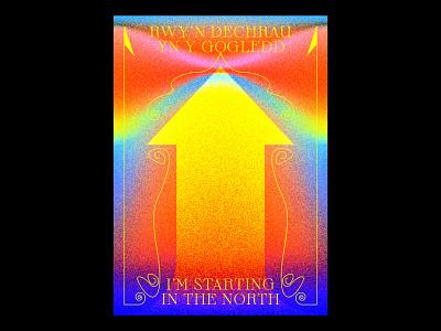 North typography typographic poster illustration gradients design