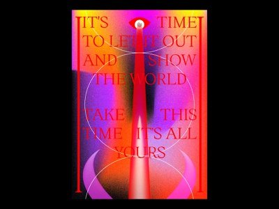 Time blankposter print typography typographic poster illustration gradients design