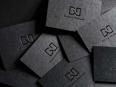 Branding Dominic Neubauer melanie wendler minimal visual identity corporate design business card logo branding
