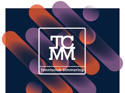 Tennis Club Simmering typography gradient digital illustration visual identity melanie wendler corporate design branding logo