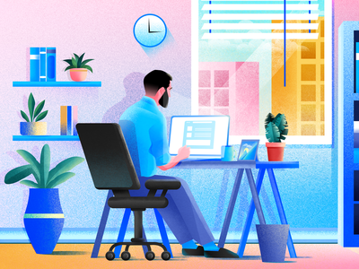 Is this me? office design illustration project creator freelance freelance design workfromhome quarantine office space laptop office digitalart photoshop vector illustrator illustration