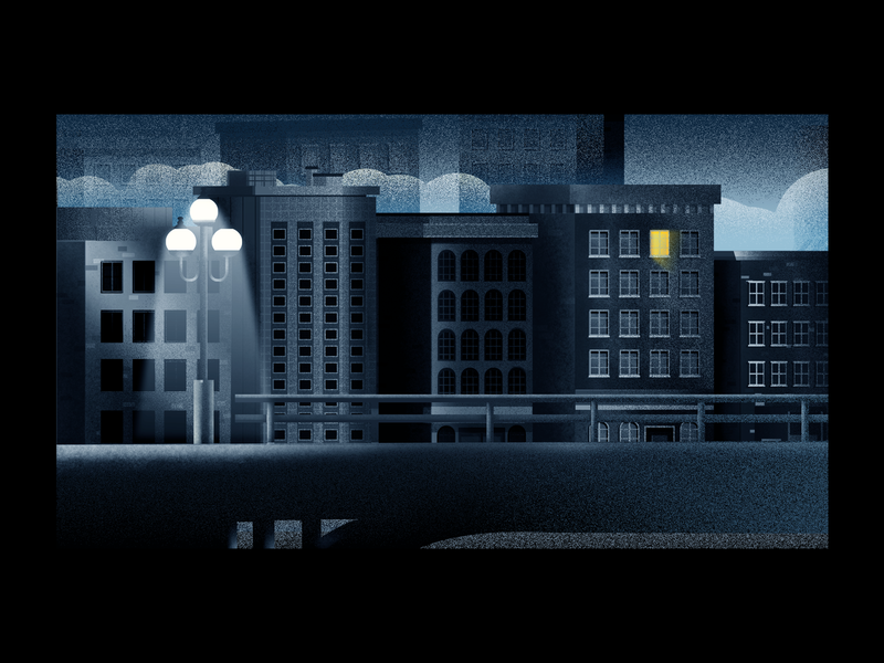 Late night, work! illustrator freelance illustrator street lamp night building dark building work latenightwork buildings digitalart vector illustration