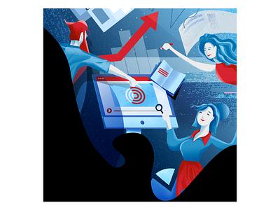 Teachers Online vector tech technology e-learning texture art photoshop ui design illustrator digitalart illustration