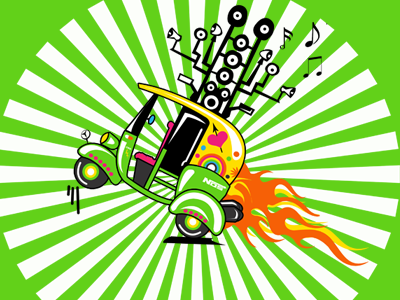 Pimp My Country rickshaw pimp my ride teeshirt design t-shirt art vector art
