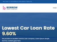 Borrow - Loan Website Template