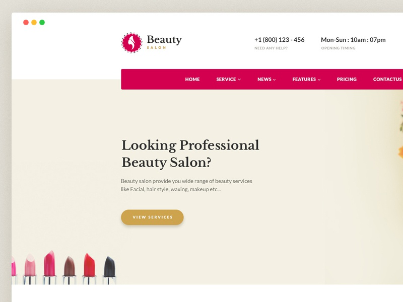 beauty salon websites templates free download by jitu dribbble