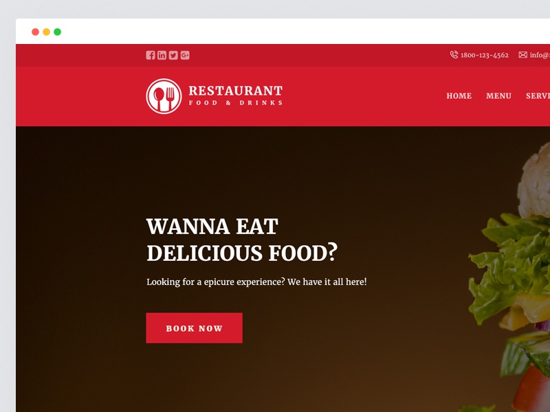 Restaurant Responsive Website Templates Free Download By Jitu