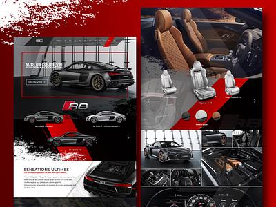 Web Design Car website phostoshop maquette design art webdesign illustration ui ux web design