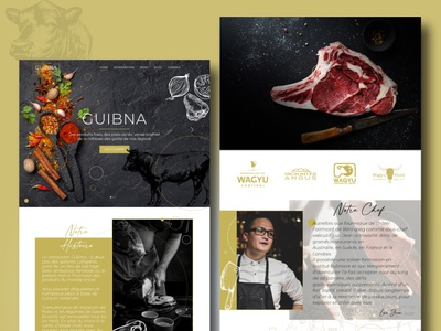 WebDesign Restaurant illustration website webdesign ui ux web phostoshop maquette design art design
