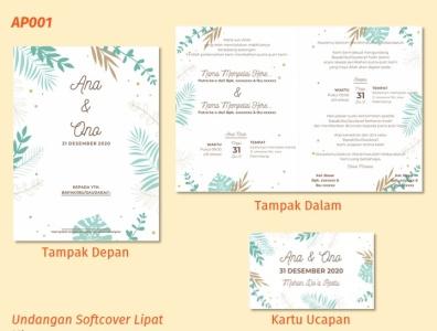 Undangan Nikah AP001 invitation flat vector design