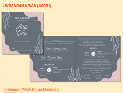Undangan Nikah AC001 design vector wedding wedding invitation invitation