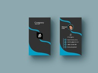 portrait busns card1 logo icon design illustration